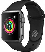 продажа Apple Watch Series 3 42mm Case Space Grey Aluminium Sport Band Black (GPS+Cellular)
