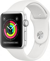 продажа Apple Watch Series 3 38mm Case Silver Aluminium Sport Band White