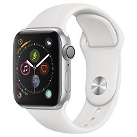 продажа Apple Watch Series 4 44mm Case Silver Aluminium Sport Band White